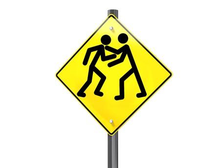 signalering: Illustratie van een weg verkeers bord signalering road rage Stockfoto