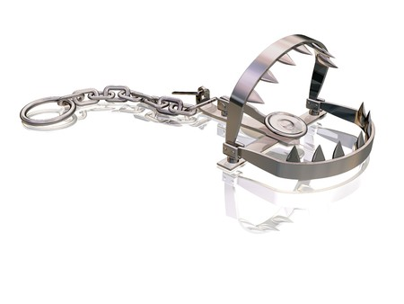 Bear trap snapping its sharp jagged teeth Stock Photo - 7782622