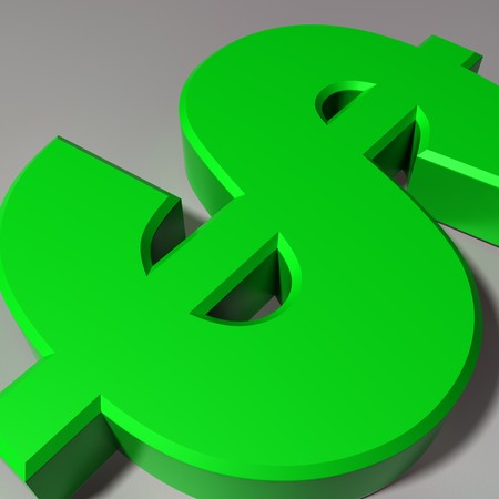 Close up view of a Dollar currency symbol Stock Photo - 7782628
