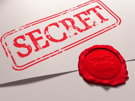 Illustration of a secret document with a wax seal Stock Illustration - 7911244