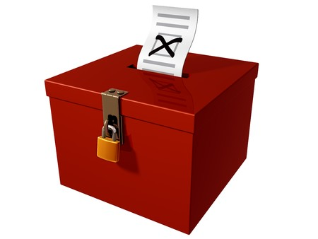 Isolated illustration of a stylized ballot box Stock Illustration - 7911243