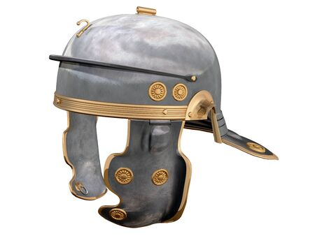 roman soldier: Isolated illustration of a First Century Roman Helmet Stock Photo