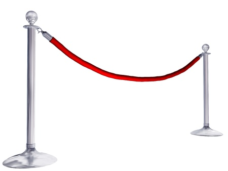 velvet rope barrier: Isolated illustration of velvet rope and stands