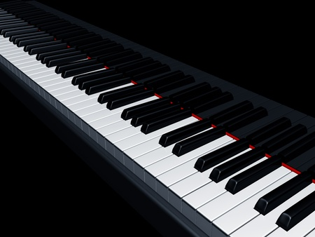 keyboard keys: Illustration of a piano reflecting the keys