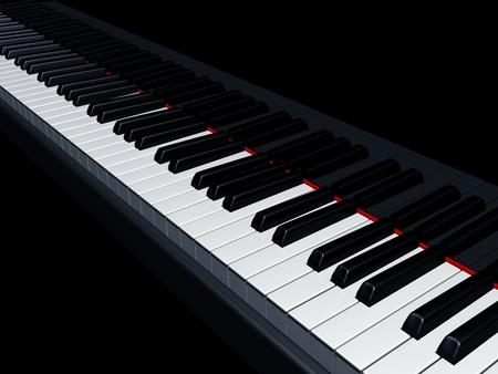 teclado de piano: Ilustraci�n de un piano que reflejan las claves