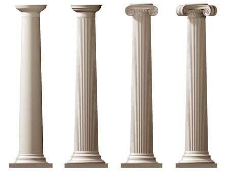 doric: Ilustraci�n aislada de columnas d�rico romano y j�nico