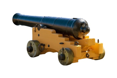 deck cannon: Ancient cannon from an old sailing ship Stock Photo