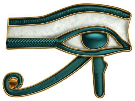 Illustration of the ancient Egyptian Eye of Horus symbol illustration