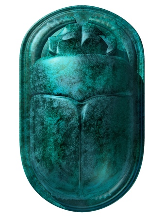 scarab: Isolated illustration of an ancient Egyptian scarab beetle