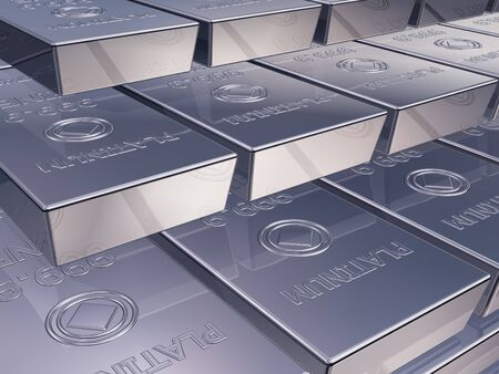 Illustration of platinum reserves piled high in a stack Stock Illustration - 11854100