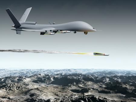 Drone lance un missile sol air