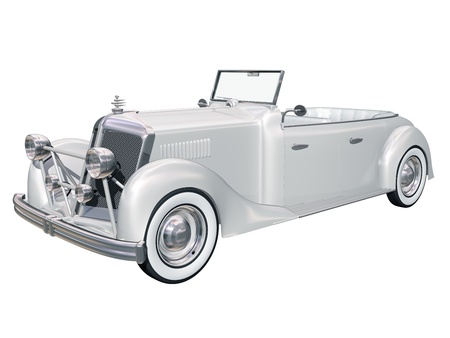 walled: Illustration of a retro classic car fit for any brides wedding