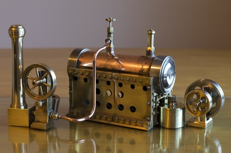 Small working model steam engine and boiler Stock Photo - 17776092
