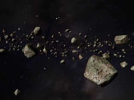 asteroid: Thousands of asteroids in a far off orbit around the sun