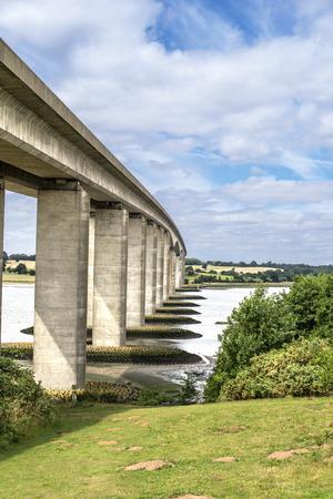 suffolk: Orwell Bridge in Suffolk England spanning the River Orwell Stock Photo