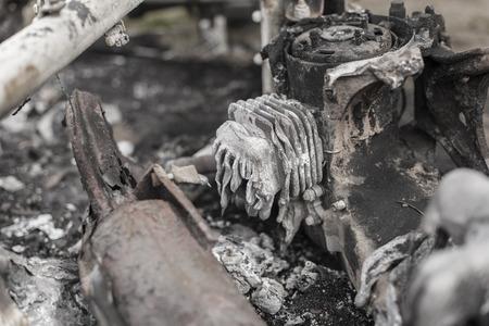 quemado: Las secuelas holocausto de fuego moto