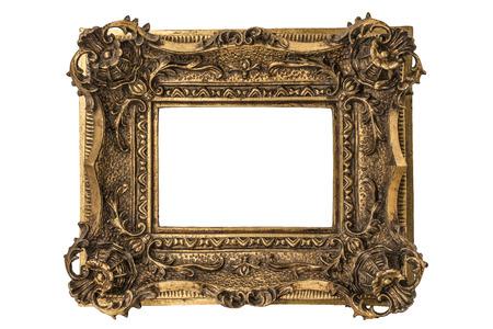 小さなグルジア彫刻ダブル スイープ金箔額縁 写真素材