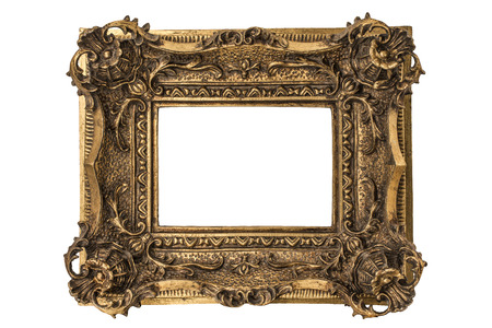 gold picture frame: Small Georgian carved double sweep gilt picture frame