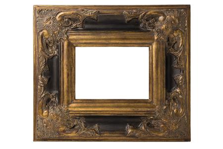 Baroque picture frame: Petit baroque espagnol cadre photo noir et or