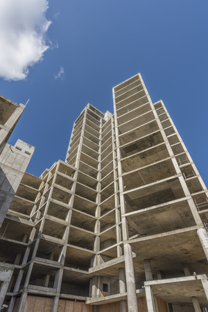 apartment blocks: Half constructed apartment blocks towering up to the sky
