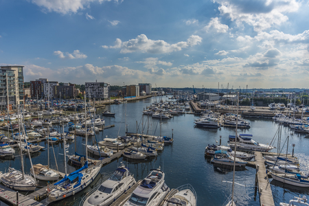 suffolk: Looking across Ipswich harbour on a sunny afternoon