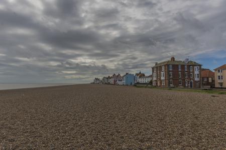 suffolk: Aldeburgh beach and town on Suffolk Coast