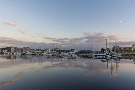 suffolk: Ipswich harbour on a calm tranquil evening Stock Photo