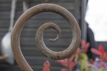 Wrought iron formed into an elegant spiral