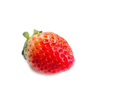 cutouts: isolated strawberry on whitebackground, selective focus.