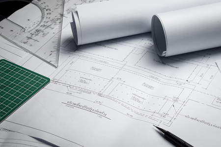 Engineering diagram blueprint paper drafting project sketch engineering diagram blueprint paper drafting project sketch architecturalselective stock photo picture and royalty free image image 70593674 malvernweather Image collections