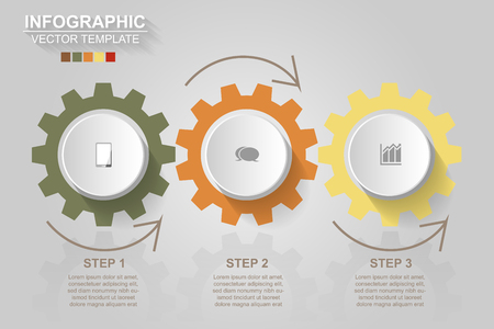 Timeline infographics design vector and marketing icons can be used for workflow layout, diagram, annual report, web design. Business concept with 3 options, steps or processes.