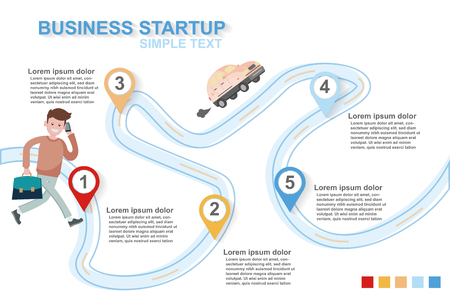 creative illustration infographic step by step start your business