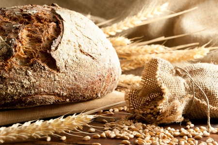 loaves: Close-up on traditional bread. Shallow DOF Stock Photo