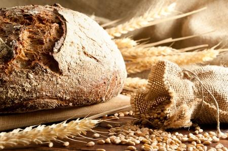 Primer plano sobre el pan tradicional. DOF superficial