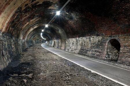 Abandoned train tunnel photo