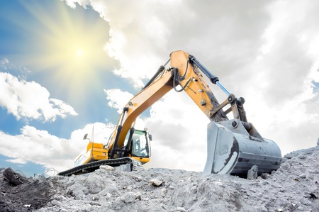 Medium sized excavator photo