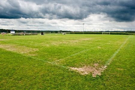 Soccer filed. Football field photo