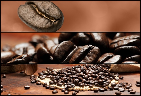 coffe beans: Banners - Coffee. Shallow depth of field.