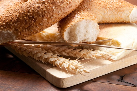 Close-up on traditional bread photo