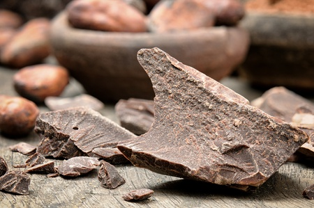 bitter: Crushed dark chocolate with cocoa beans