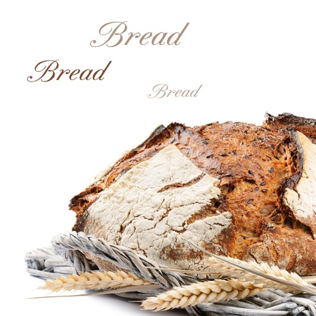 Freshly baked traditional bread isolated on white background Stock Photo