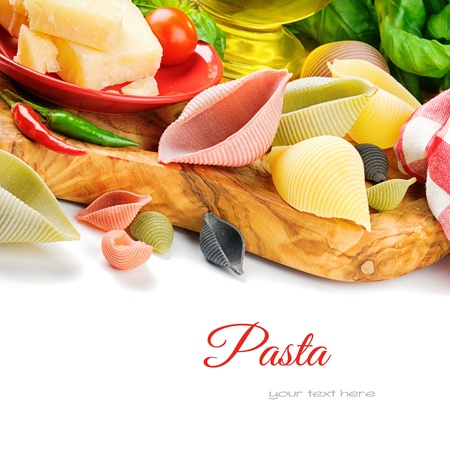 Fresh ingredients for Italian pasta with parmesan Stock Photo - 19007553