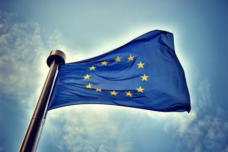 european economic community: European Union flag