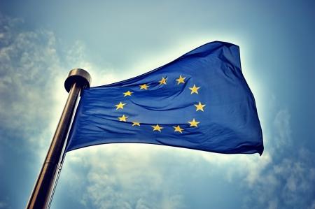 Unión Europea bandera Foto de archivo - 24690973