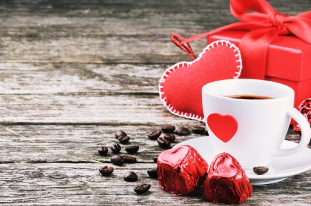 text box: St Valentines breakfast with coffee and chocolate