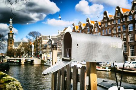 buzon: Caja en el distrito de Jordaan de Ámsterdam
