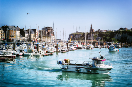 Port of Dieppe at summer time. Normandy, France photo