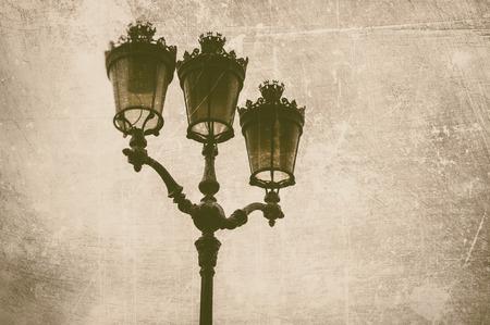 lamp posts: Ancient street lantern in retro style