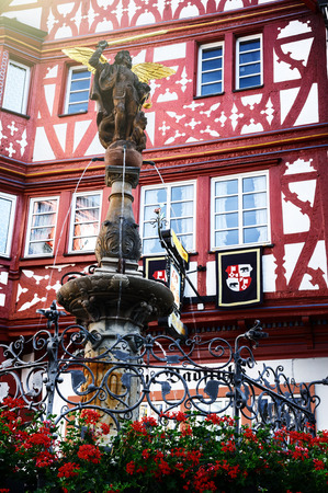 market place: Traditional German timber frame house in the market place of Bernkastel-Kues