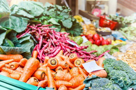 Fresh vegetables at local farmers market